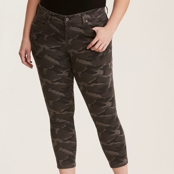 0c76392f60f Torrid Camo Military Pants Stretchy Jeans Skinny